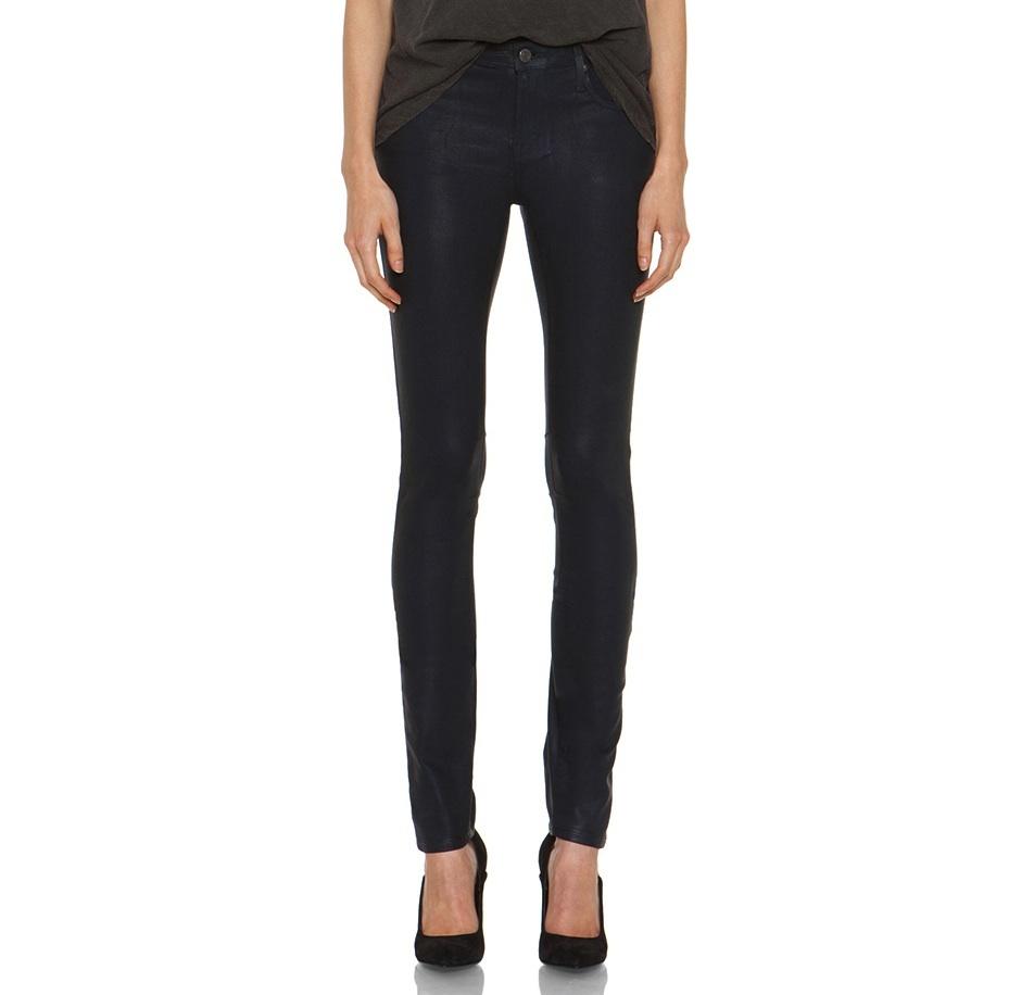 Helmut by Helmut Lang Gloss Wash Skinny Jeans in Dusty Sapphire / TheFashionMRKT