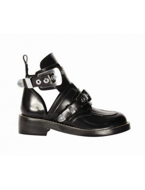 *Exclusive - CRUSH Black Cutout Boots - Sliver Buckles |Black| In Shoes | JESSICABUURMAN [8479] - $159.00 : JESSICABUURMAN.COM