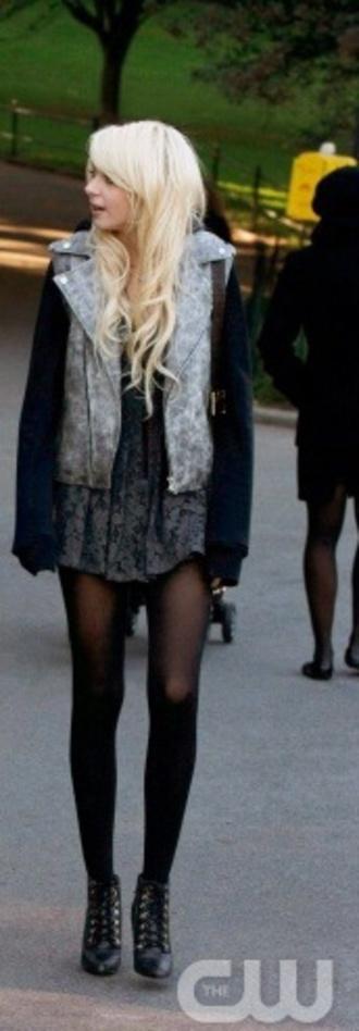 jacket jenny humphrey gossip girl taylor momsen shoes dress