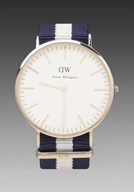 DANIEL WELLINGTON Glasgow 40mm in Silver at Revolve Clothing - Free Shipping!