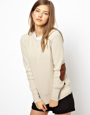 Barbour | Barbour Jumper With Elbow Patches at ASOS