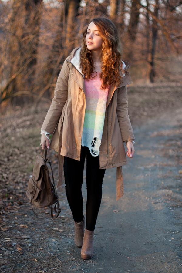 kolorowa dusza sweater coat jewels pants shoes