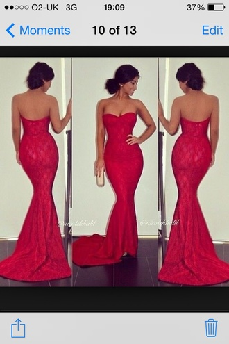 fishtail mermaid trumpet elegant evening dress dress red prom dress red mermaid prom dress red dress black dress prom dress red sweetheart dress red prom homecoming strapless lace long prom dress long mermaid slim dress laced materials burgundy dress gown
