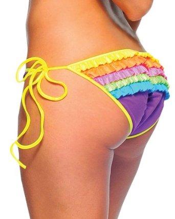 Amazon.com: Rave Ruffle Rainbow Rhumba Bikini Bottoms - ONE SIZE: Clothing