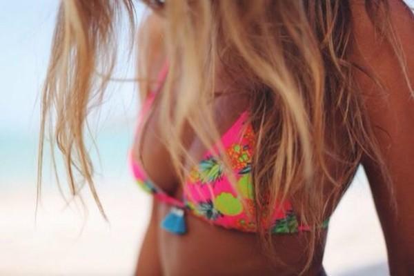 swimwear pink pretty cool summer holiday flower stud earrings bikini swimwear perfect