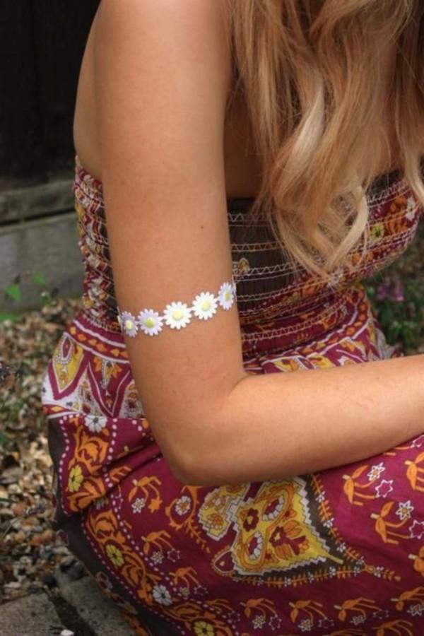 jewels daisy armband boho girly pretty indie bracelets jewerly accessories