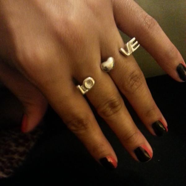 jewels love ring double heart ring double ring ring gold ring ring jewelry