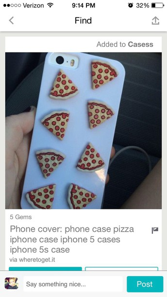 phone cover pizza phone cover iphone case iphone 6 case hair accessory