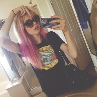 t-shirt grunge indie band rock hipster guns and roses