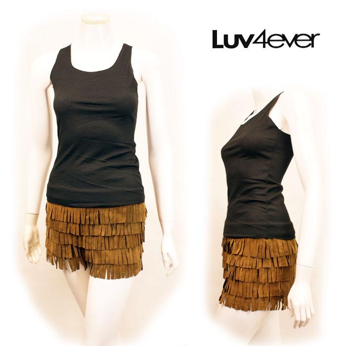 Rakuten: Luv4ever fringe short pants / suede Luv4ever original Lady's fringe western celebrity fashion celebrity-style - Shopping Japanese products from Japan