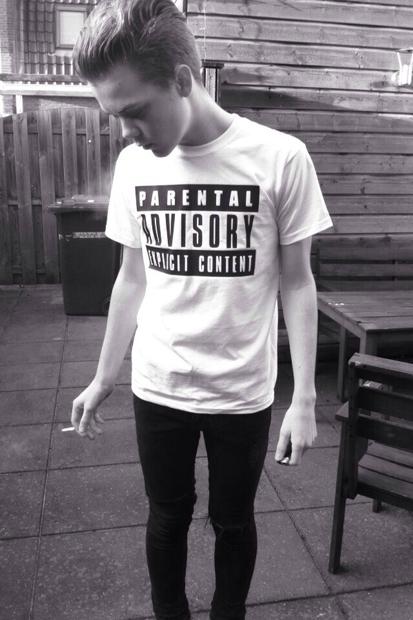 shirt parental advisory explicit content advisory parental advisory explicit content parent advisory explicit content black white t-shirt white t-shirt b&w w&b streetwear dope dope cool amazing soft grunge