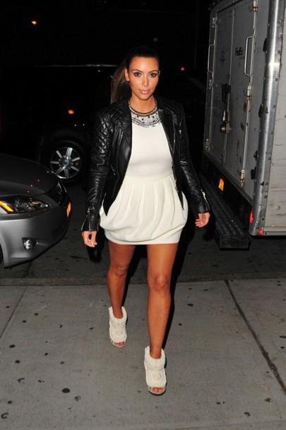 kim kardashian white dress