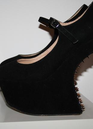 Blogger Nieten Wedges ohne Absatz Schwarz / Gold 37 Extreme Heels - kleiderkreisel.de