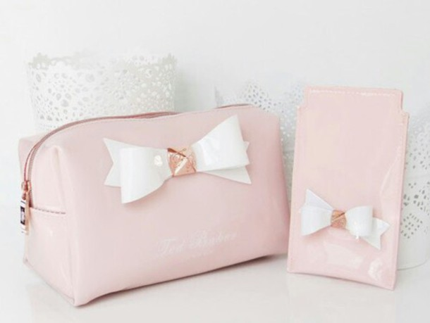 29c19ddf5 Makeup Bag Baby Pink Bows Ted Baker Holiday Gift Romantic