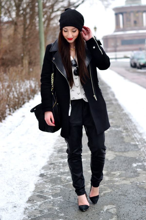 flirting with fashion coat jacket blouse pants shoes hat bag