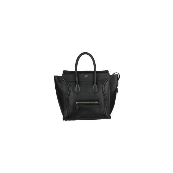 Celine Black Leather Luggage Tote Bag - CÉLINE - Polyvore