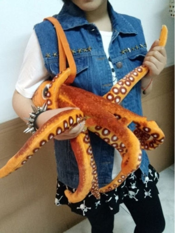bag personalized animalbag cool bag octopus