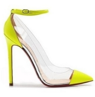 2013 japanned leather pointed toe women's shoes single shoes fashion high heeled shoes party shoes sandals cl red sole shoes-inSandals from Shoes on Aliexpress.com
