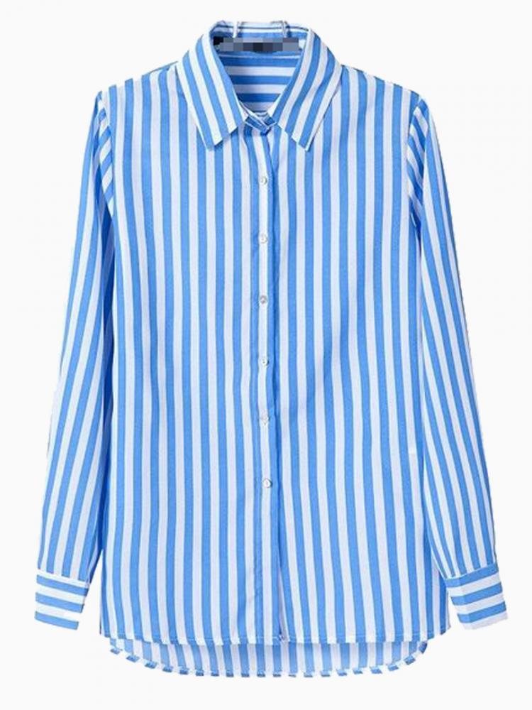 Blue Stripe Shirt | Choies