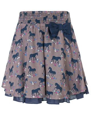 Belle Horse Print Skirt | Camel | Monsoon