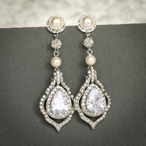 TORILYN Wedding Earrings Bridal Earrings by GlamorousBijoux