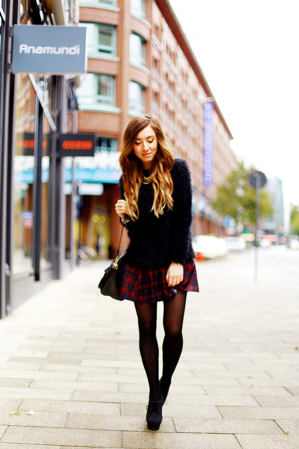 flirting with fashion sweater skirt shoes bag jewels