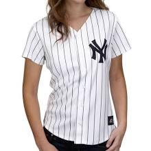 New York Yankees jerseys : Majestic New York Yankees Ladies White Pinstripe Replica Baseball Jersey