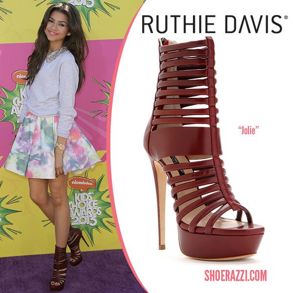 shoes shoerazzi platform sandal boots red cute burgundy zendaya sweater dress