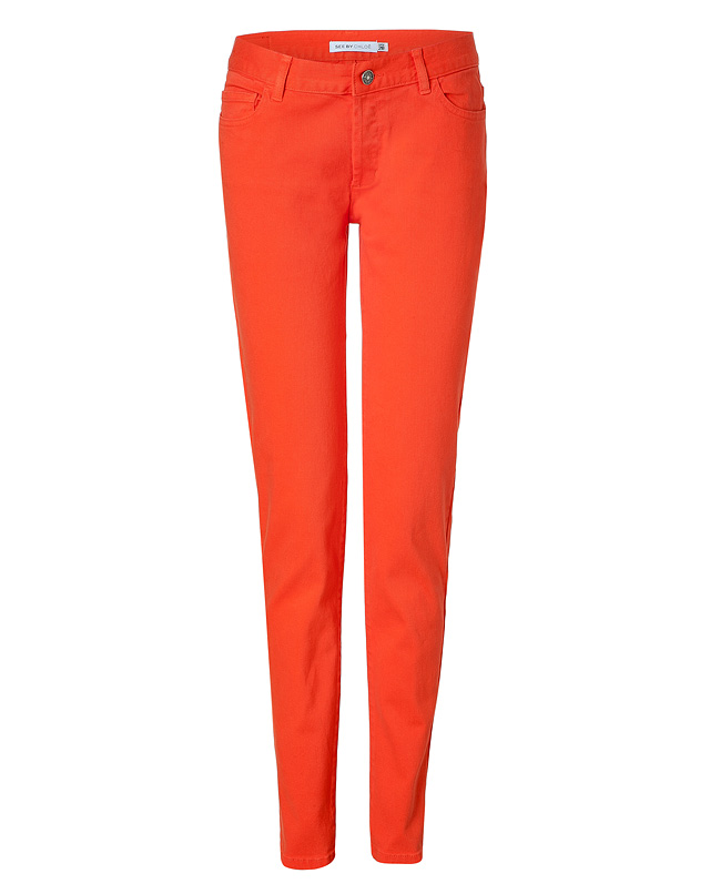 Orange Cotton Jeans from SEE BY CHLO