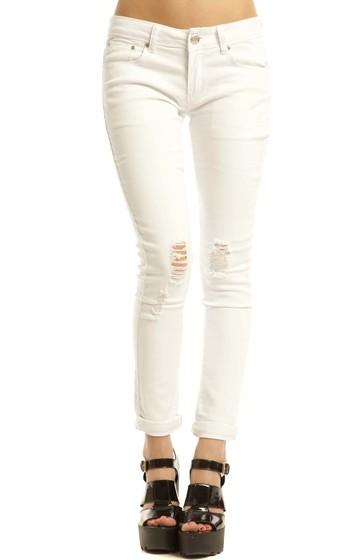 Geneva White Skinny Jeans In White   iKrush