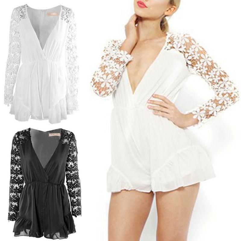 Sexy Women Celeb Lace Playsuit Party Evening Summer Ladies Dress Jumpsuit Shorts   eBay