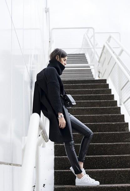 melissa araujo blogger leather pants oversized boyish
