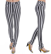 Black and White Striped Jeans | eBay