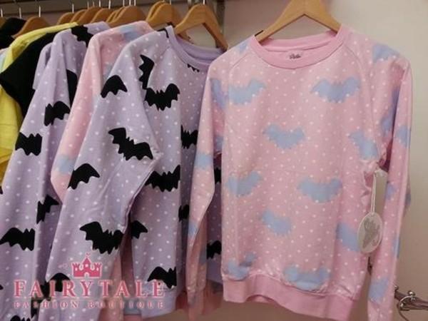 sweater kawaii bats