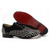 red bottom louboutin fred flat spikes mens black flats
