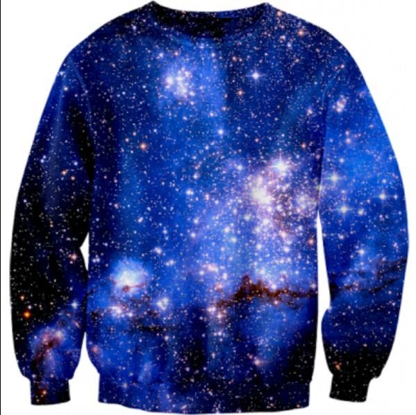 Factory direct sale!2014New Women Men blue Galaxy Sexy sweaters Pullover Purple nebula print 3D Sweatshirts Hoodies Top S/M/L/XL-in Hoodies & Sweatshirts from Apparel & Accessories on Aliexpress.com