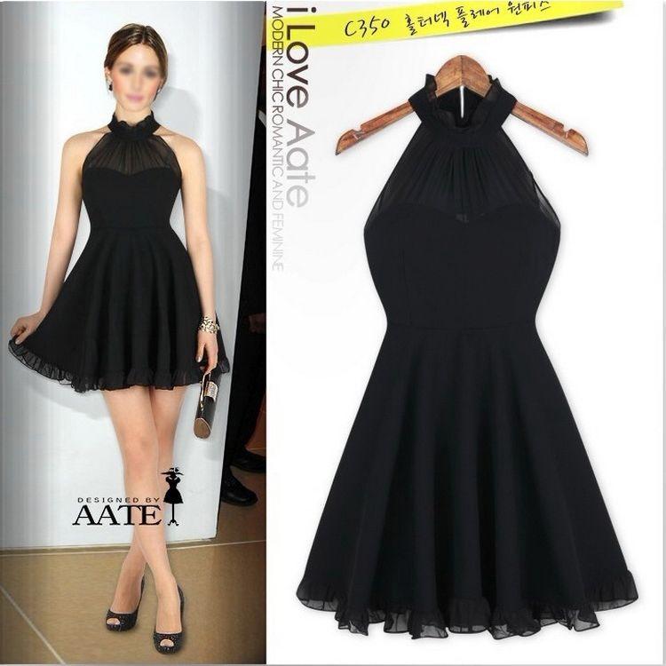 Sexy Lady Cute Girls Evening Night Cocktail Party Elegant Short Mini Dress Black   eBay