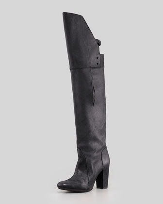 3.1 Phillip Lim Ora Runway Over-the-Knee Buckle-Back Boot, Black - Neiman Marcus