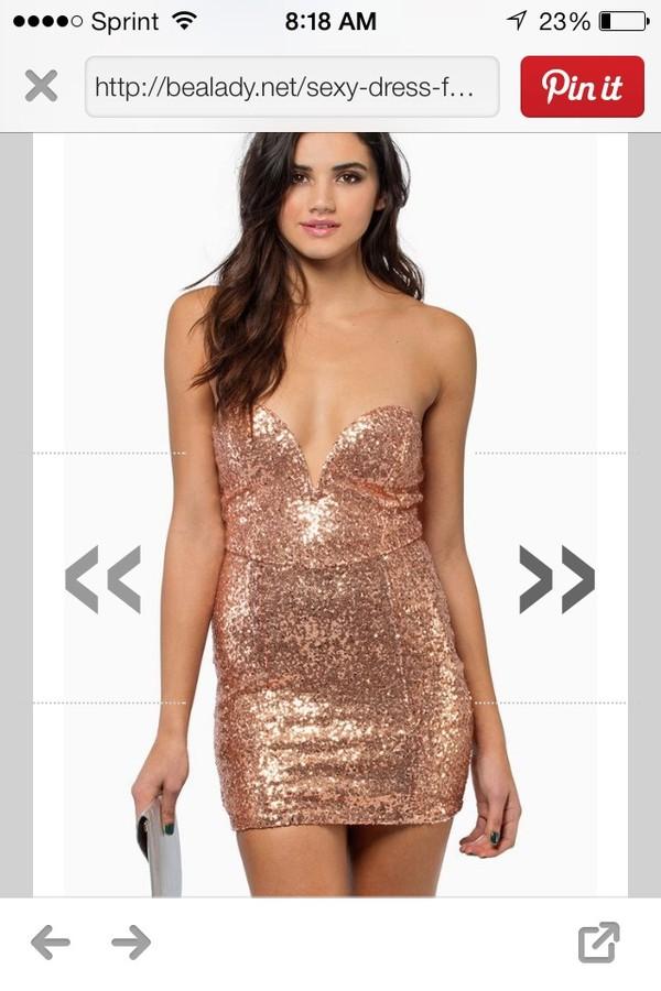 dress sequin dress strapless dress gold sequins