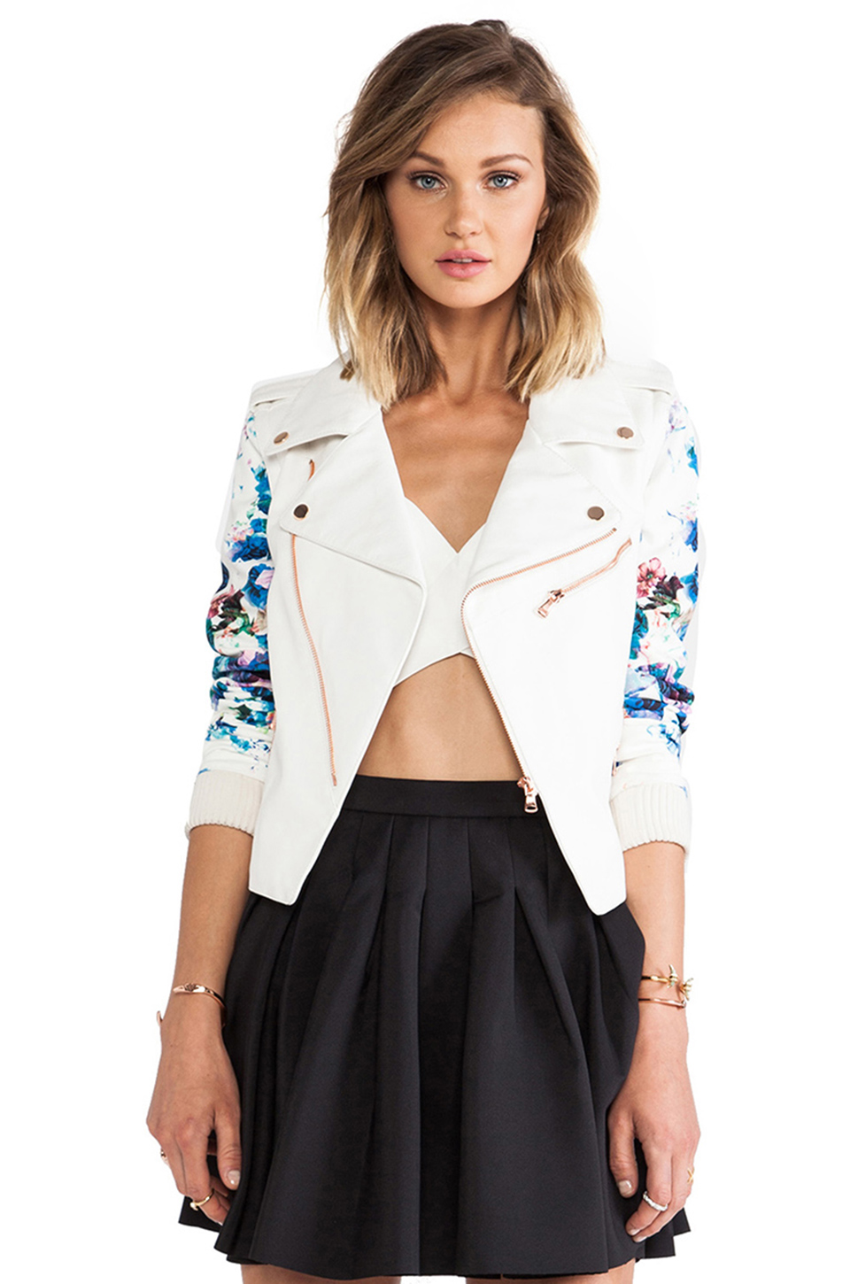 Lovers   Friends Gonna Get You Moto in White & Blue Floral | REVOLVE