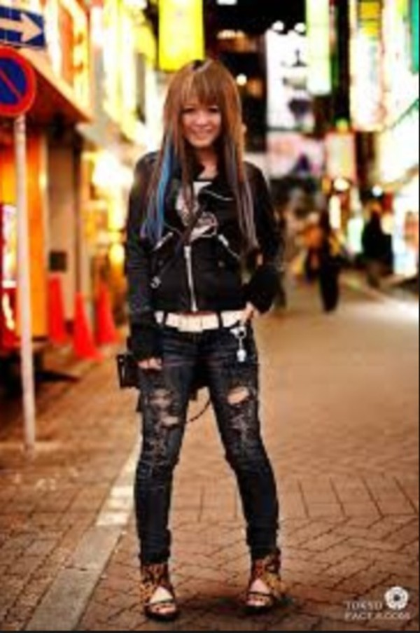 jeans black jacket ripped jeans