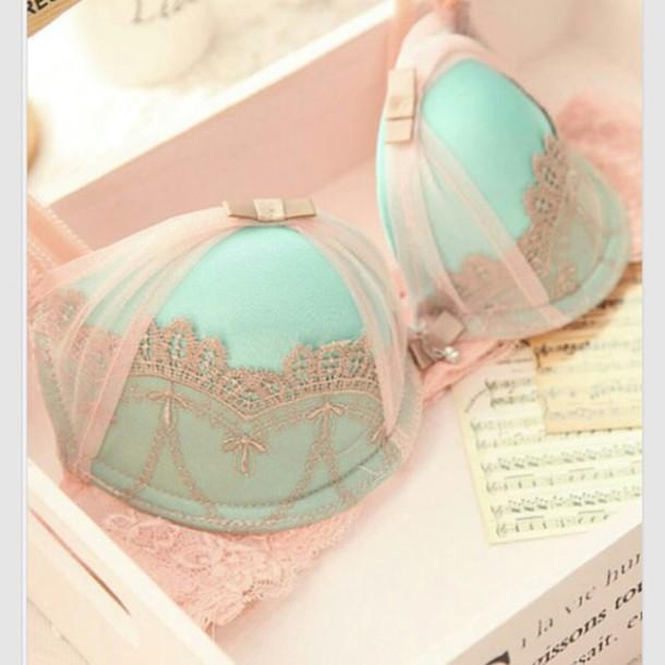 underwear underwear top princess girly feminine pink underwear pink blue underwear