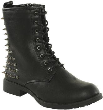 Spiked Heel Combat Boot - ShopStyle
