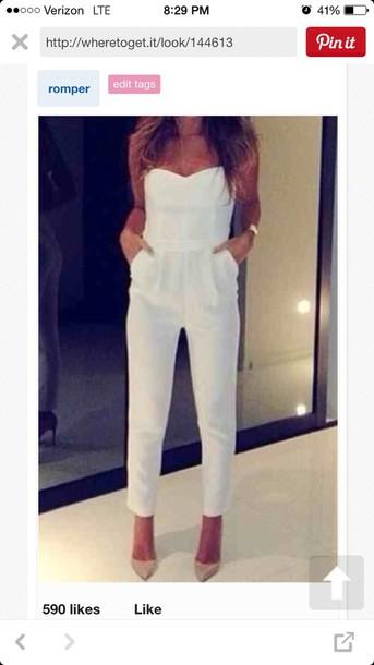 jumpsuit white jumpsuit