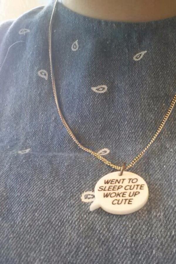 jewels went to sleep cute woke up cute necklace