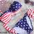 ROMWE | Sexy Twisted US Flag Printing Padded Strap Bikini Swimsuit, The Latest Street Fashion