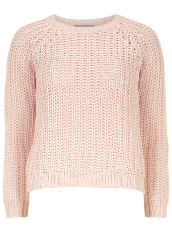 Petite pink chunky knit jumper - Knitwear  - Clothing  - Dorothy Perkins