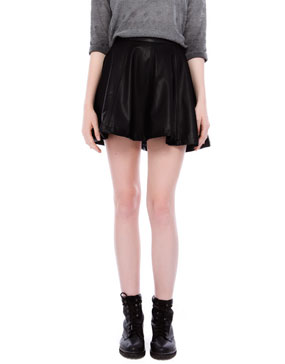 FULL FAKE LEATHER MINISKIRT - SKIRTS - WOMAN -  PULL&BEAR Greece