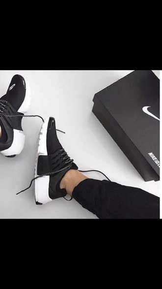 shoes nike black white black and white presto