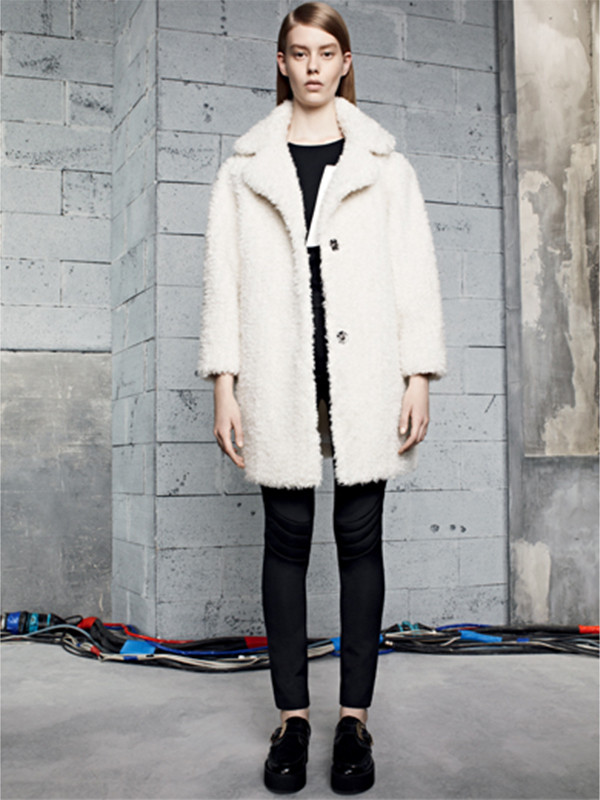 coat sandro lookbook fashion t-shirt pants